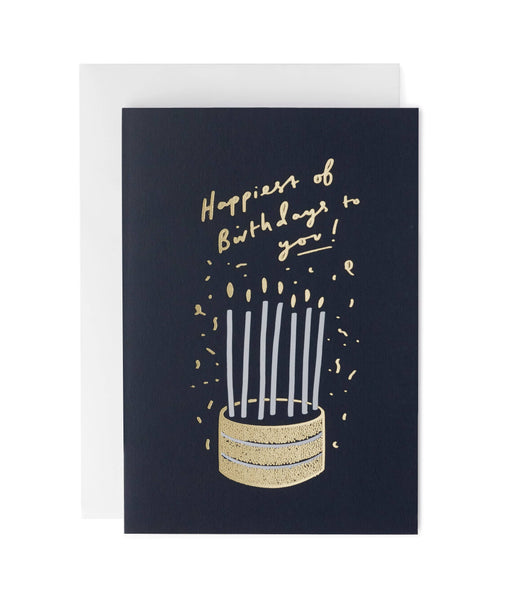 Cake and Tall Birthday Candles Greeting Card