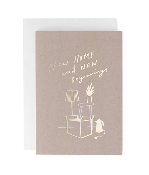 New Home New Beginnings Greeting Card