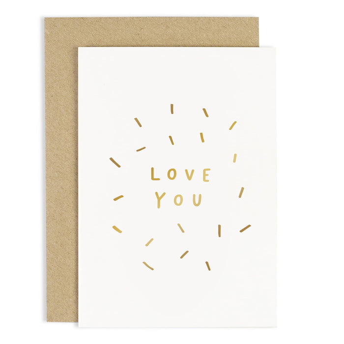 Love You Confetti Card
