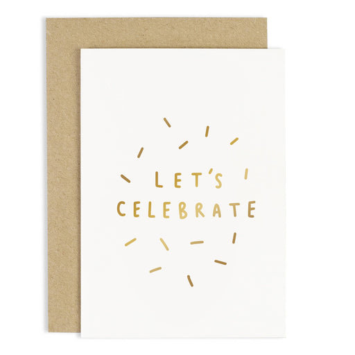 Let's Celebrate Confetti Greeting Card
