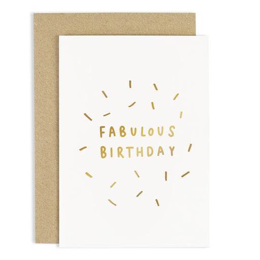 Fabulous Birthday Confetti Card