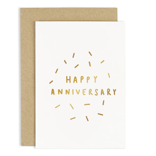 Happy Anniversary Confetti Card