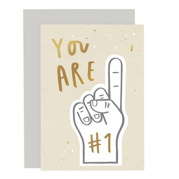you are no 1 card