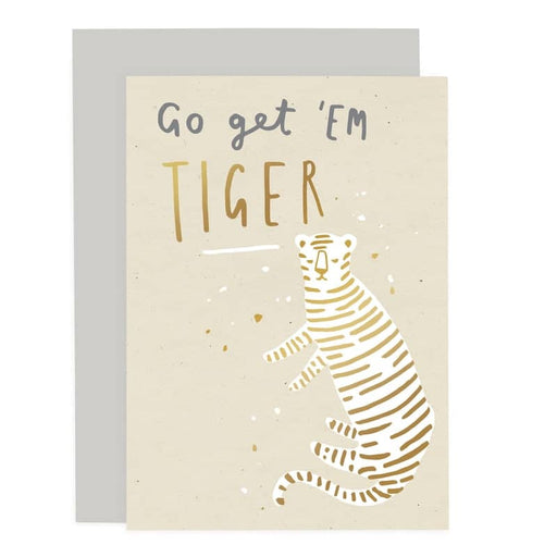 go get em tiger greeting card