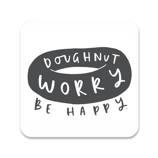 Doughtnut Worry Be Happy Coaster