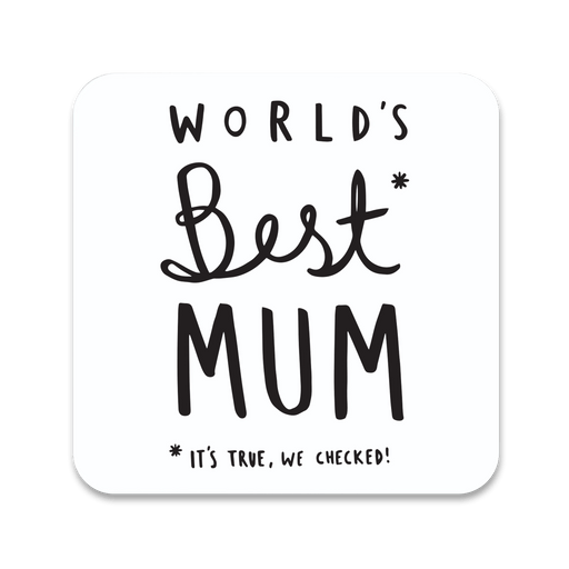 World's Best Mum Coaster