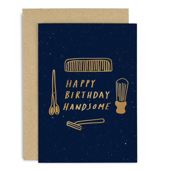 Happy Birthday Handsome Copper Card