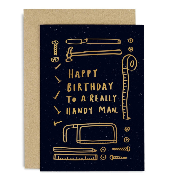 Really Handy Man Birthday Copper Card