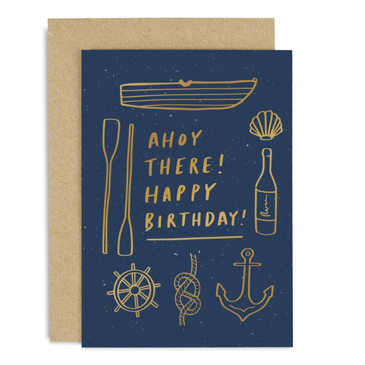 Ahoy there! Birthday Copper Card