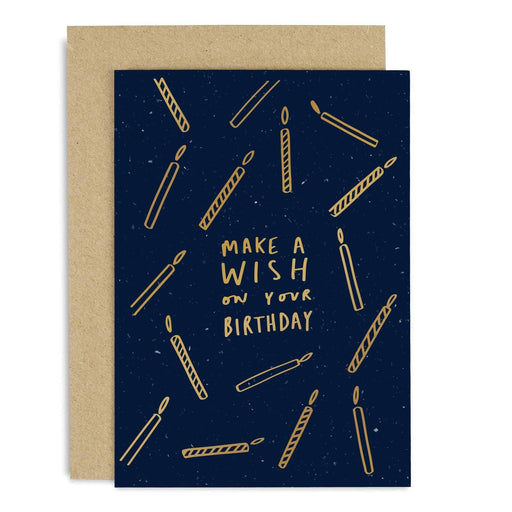 Make a Wish Birthday Candles Copper Card