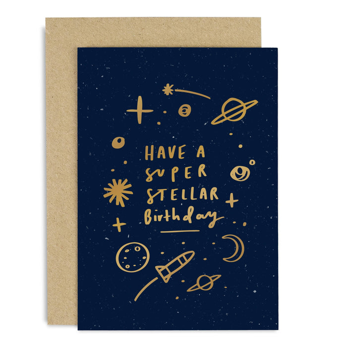 Super Stellar Birthday Copper Card