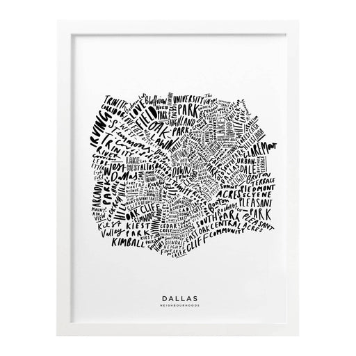 Dallas city print