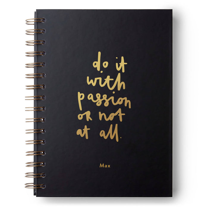 Do It With Passion Hardback Notebook