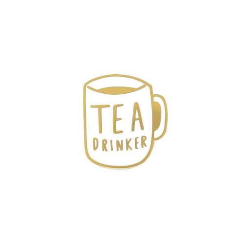 tea drinker enamel pin