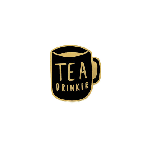 tea drink enamel pin