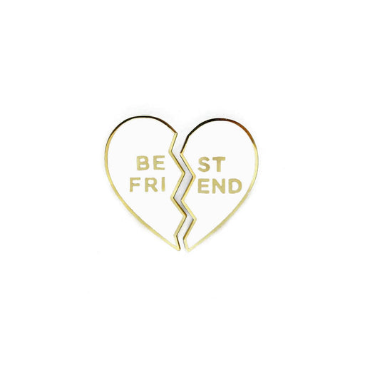 best friends enamel pin