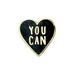 motivational heart enamel pin