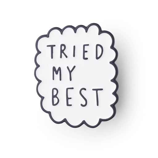 Tried my best enamel pin