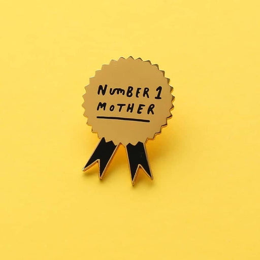 number one mother enamel pin