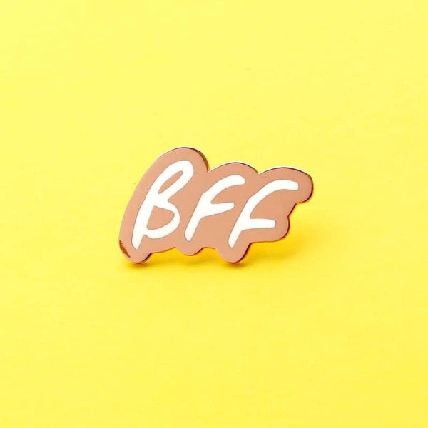 bff friendship enamel pin