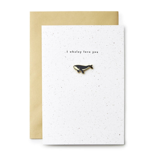 whaley love you enamel pin card