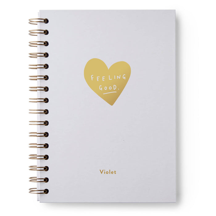 Feeling Good Heart Hardback Notebook