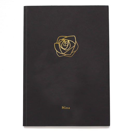 Rose Flower Personalised Notebook