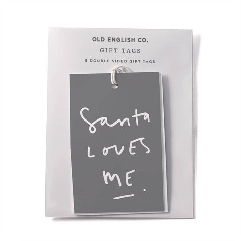 Santa Loves Me Gift Tags