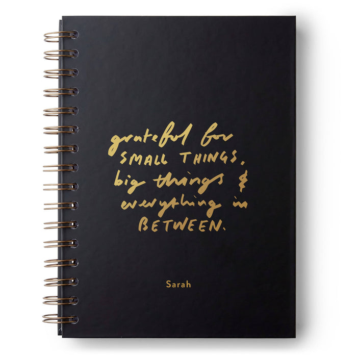 Grateful For All Things Hardback Notebook