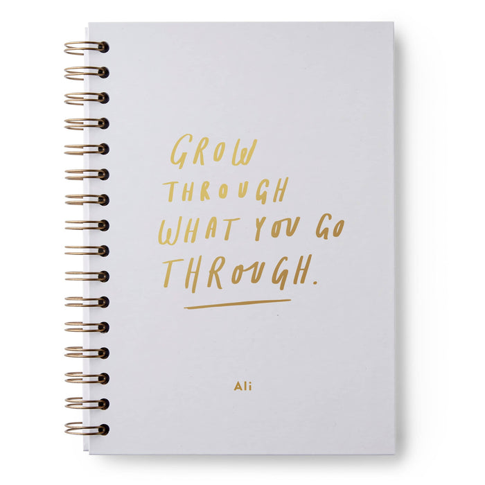 Grow Through Hardback Notebook