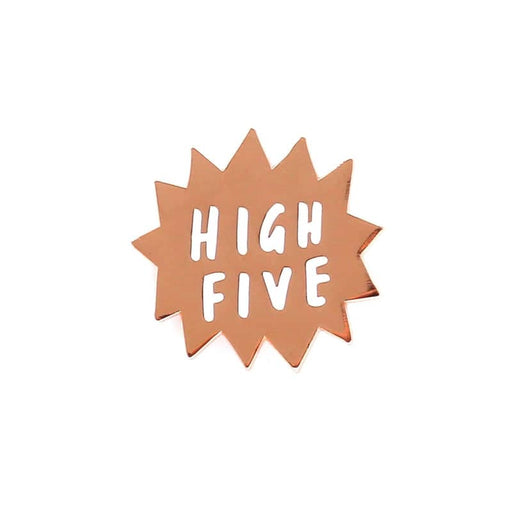 High five enamel pin