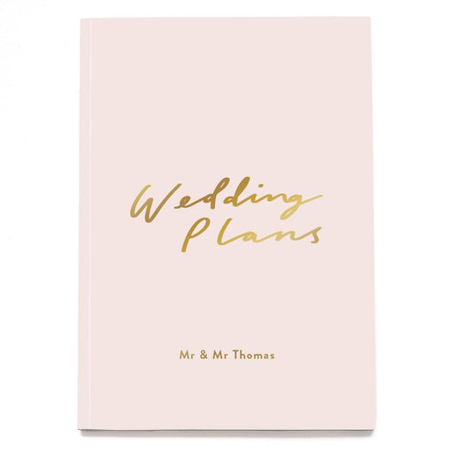 Wedding Plans Personalised Notebook