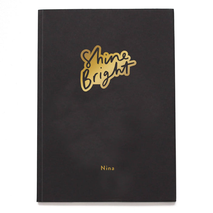 Shine Bright Personalised Notebook