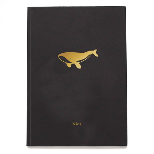 Whale Personalised Notebook