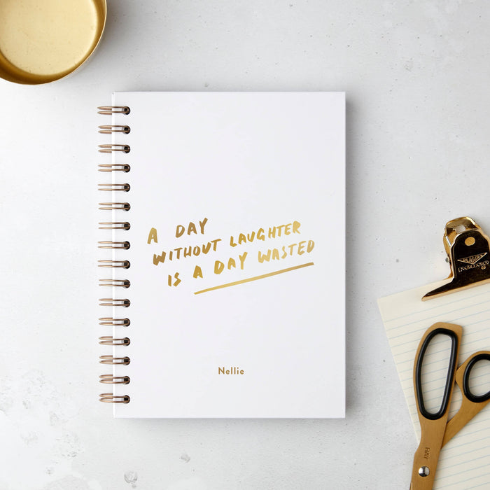 Without Laughter Hardback Notebook