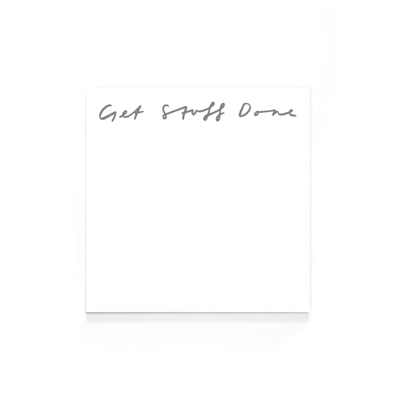 get stuff done memo notepad