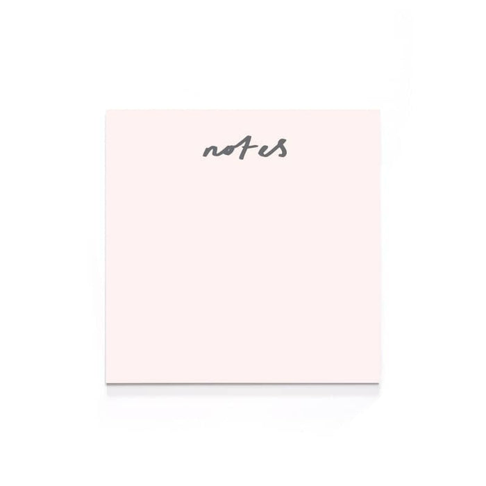 blush pink notes memo pad staationery