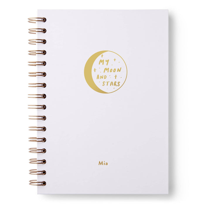 Moon and Stars Hardback Notebook