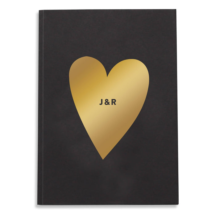 Personalised Love Heart Notebook
