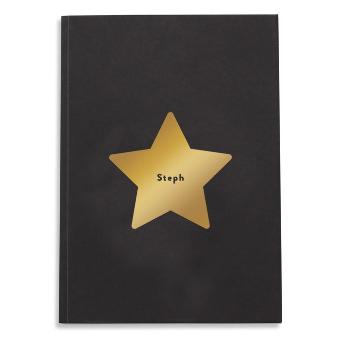 Personalised Star Foil Notebook