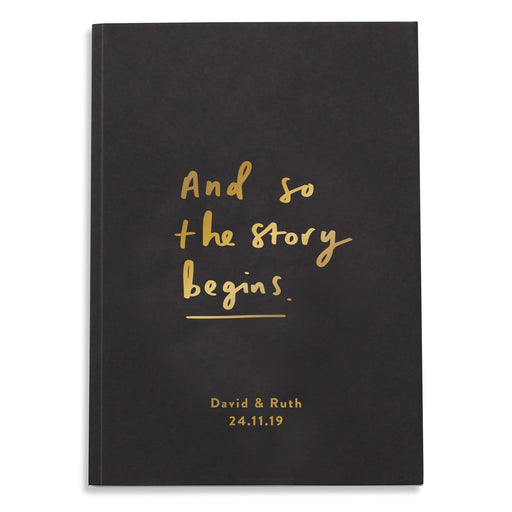 And so the story begins personalised notebook