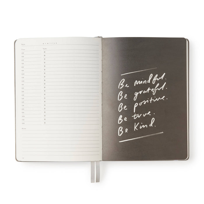 Daily Planner Book - Metallic Silver