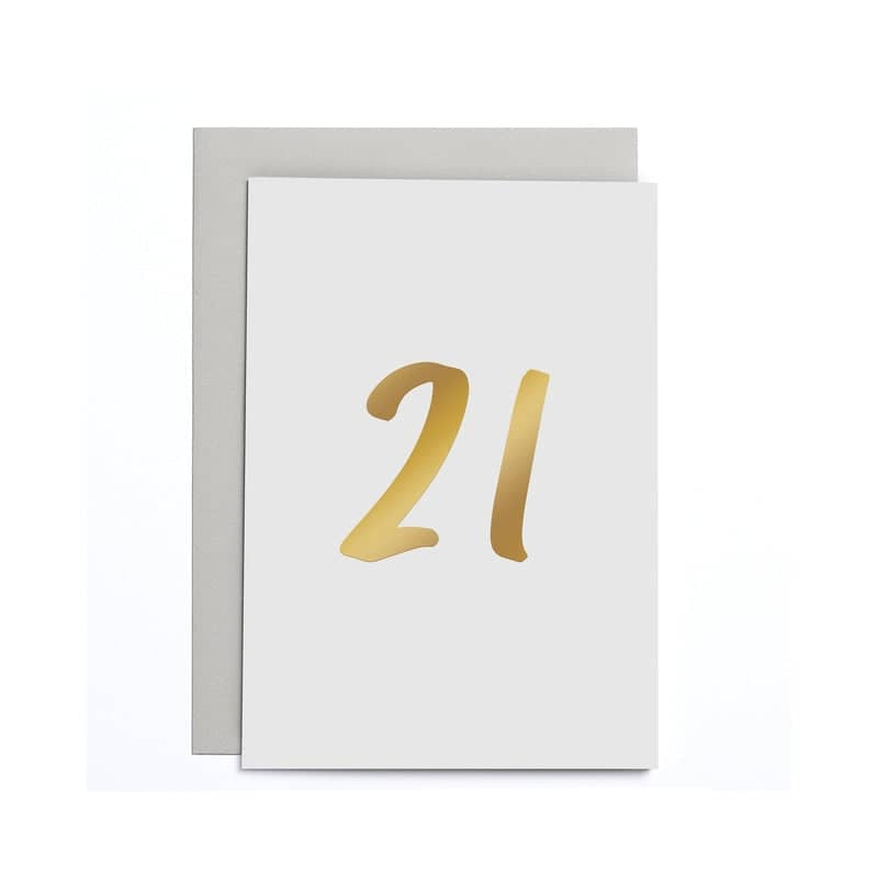 21st Birthday Small Card