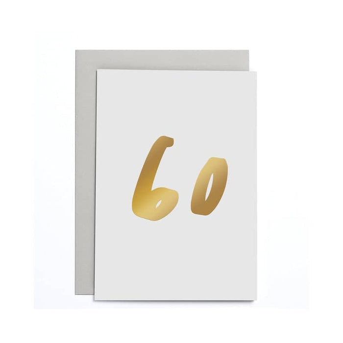 60th Birthday Small Card