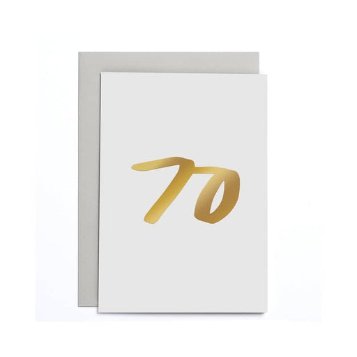 70th Birthday Small Card