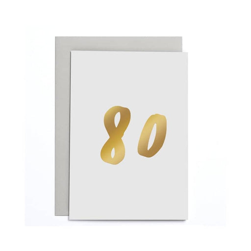 80th Birthday Small Card