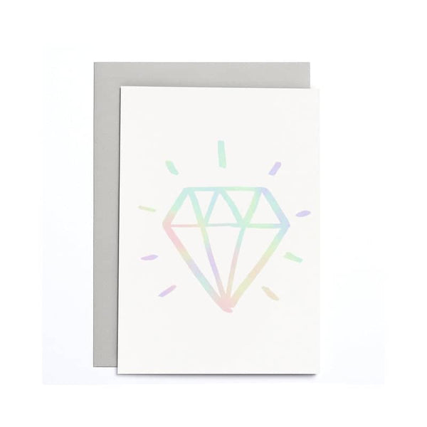small engagement diamond card