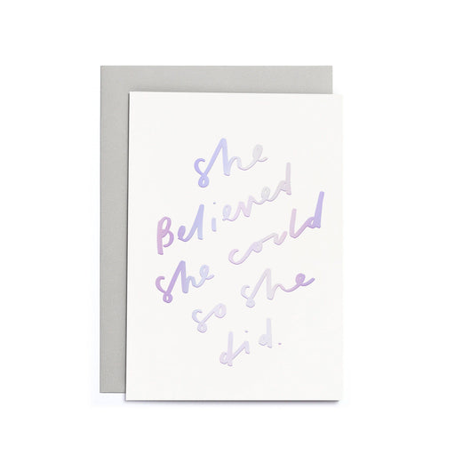 She Believed She Could Small Card
