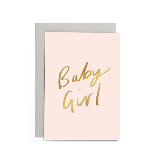 Baby Girl Pink New Baby Card