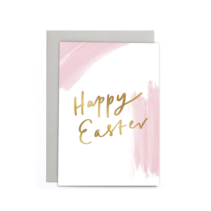 Happy Easter Pink and White Small Card